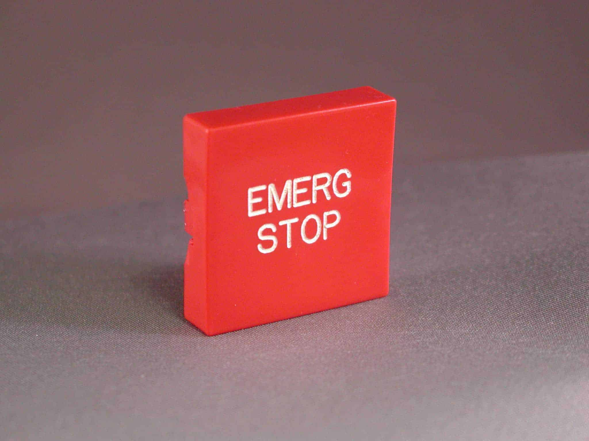 """EMERGENCY STOP"" button"