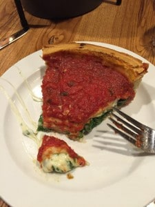 Giordano's Deep Dish - stuffed spinach.