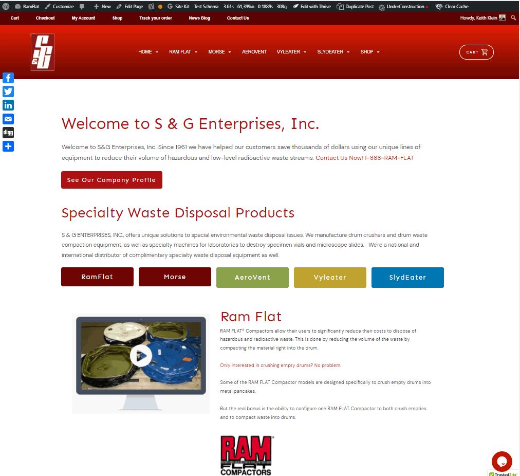 S&G Website Homepage