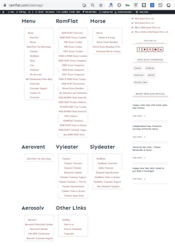 S&G Website Sitemap